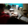 Jamie hard at work in the kitchen