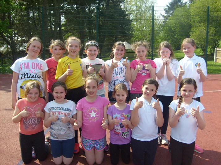 P6 Netballers from CPS and St. Mary's