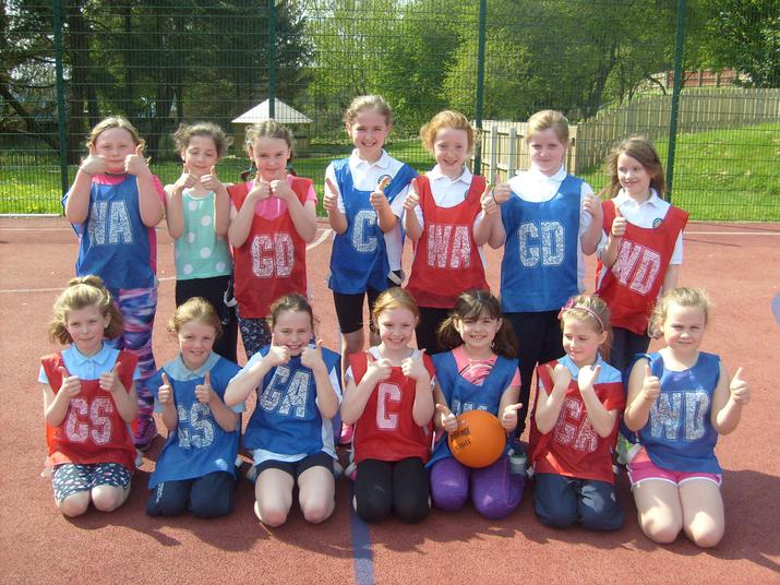 P4/5 Netballers from CPS and St. Mary's