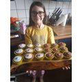 Rubie making buns for her brother's birthday