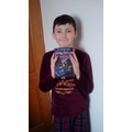 Aaron has completed reading Harry Potter! Fab!
