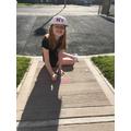 Alesha has been having fun with chalk
