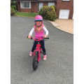 Lucy S got a lovely new pink bike