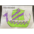 Callum great work on colouring the longship