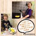 Emily P6R cooking for her brother!