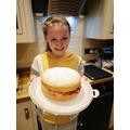 Lara's Victoria sponge cake