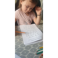 Lucy has been working hard on numeracy