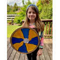 Lovely shield Emily but you look too friendly!