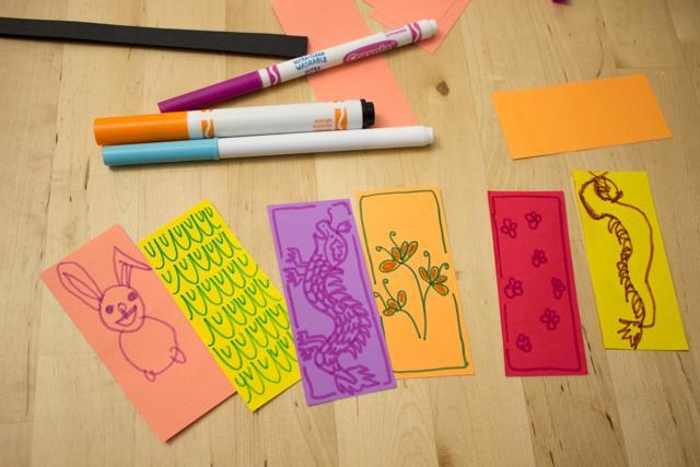 2. Decorate your paper rectangles