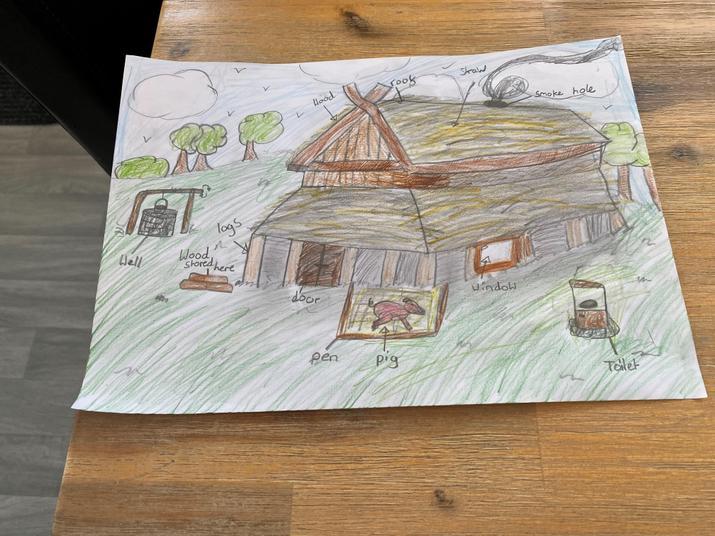 Callum's longhouse drawing
