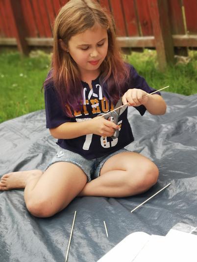 Ellie making her shaduf