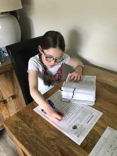 Holly working hard using her Thesaurus