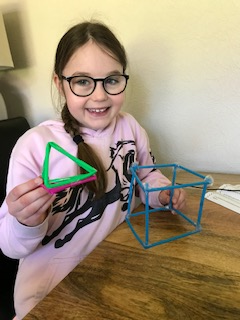 Holly's finished 3D shapes