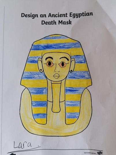 Egytian Death mask -Great job Lara