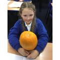 'Guess the pumpkin weight' runner-up!