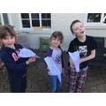 Super paper aeroplanes, Frank, Darcy and Lilia!