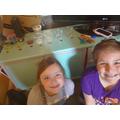 Nola and Matilda's science experiment