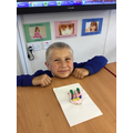 We recreated our bottom row of teeth using clay.