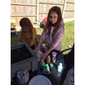 Holly and Amy's rainbow planters