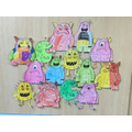 We thought about our emotions and created colour monsters.
