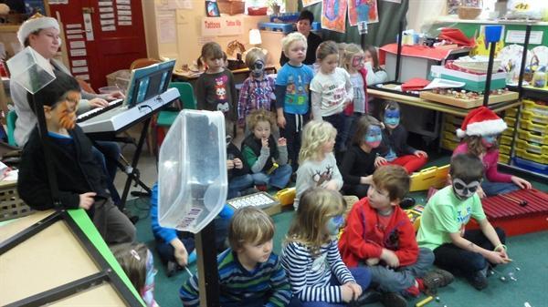 We sang carols at the Christmas Fayre