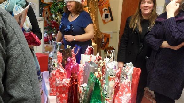 Bottle stall at the Christmas Fayre