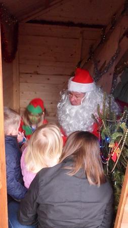 Santa fitted in a visit to Combs