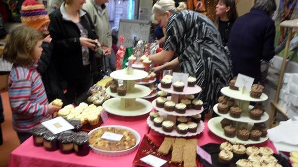 Gorgeous cakes for sale at our Christmas Fayre!
