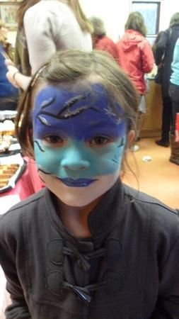 Nathan's sister had her face painted