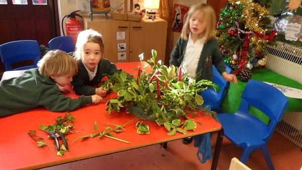 The Reception children made an Advent ring
