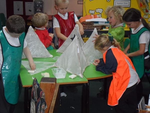 we made lanterns for our Nativity Play