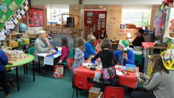 Craft activities at the Christmas Fayre