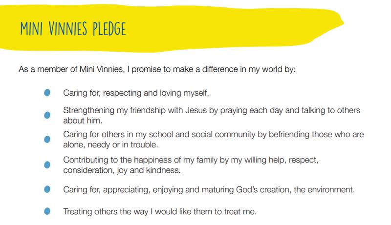 Mini-Vinnies' Pledge