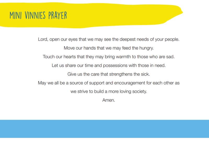 Mini-Vinnies Prayer