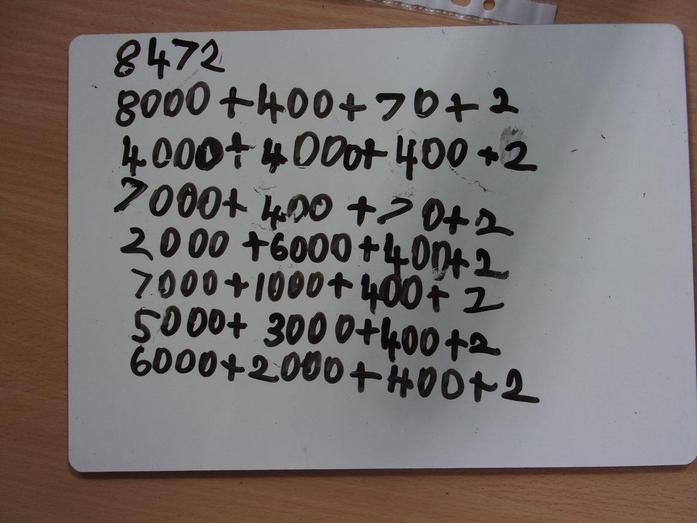 Place value work