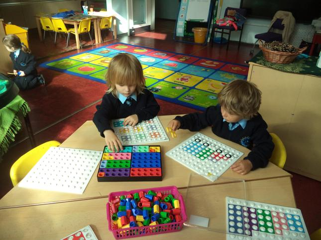 Making patterns using Numicon