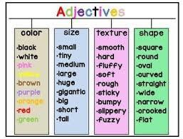 Now can you put the words into a sentence using describing words?