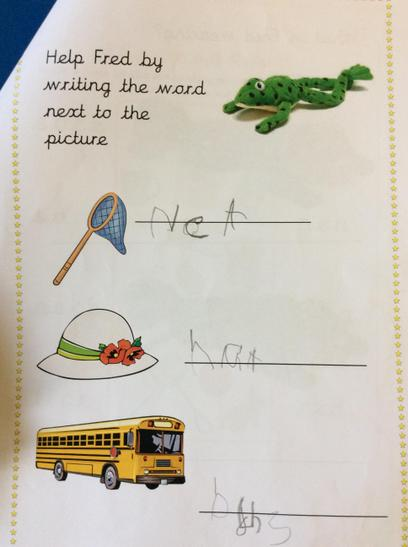 Lovely phonics work by Musa K