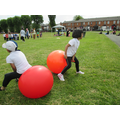 Space hopper race