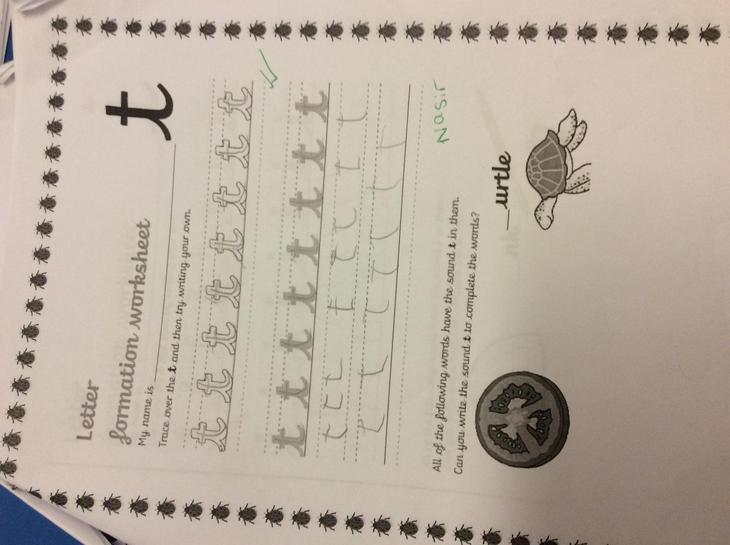 Well Done Nazir, brilliant letter Formation