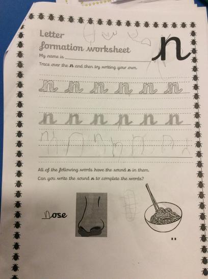 Super letter Formation Ayub!