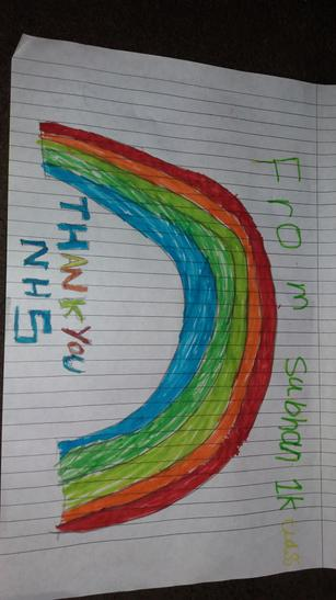 Subhan has drawn a fantastic rainbow.