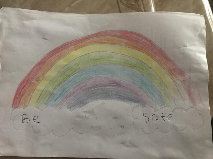 Ishaq's  amazing rainbow