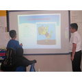 Adam and Ismail had fun presenting to thier class.