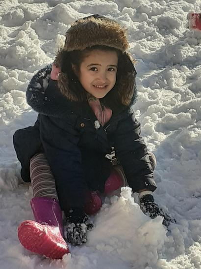 Sara playing in the snow!