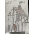 Amazing drawing of a Tudor house by Syed Sulayman in 5P