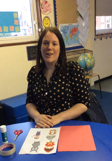 First get all the resources you need form your home learning pack and sit at the table.