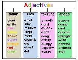 Can you use describing words to make a sentence?