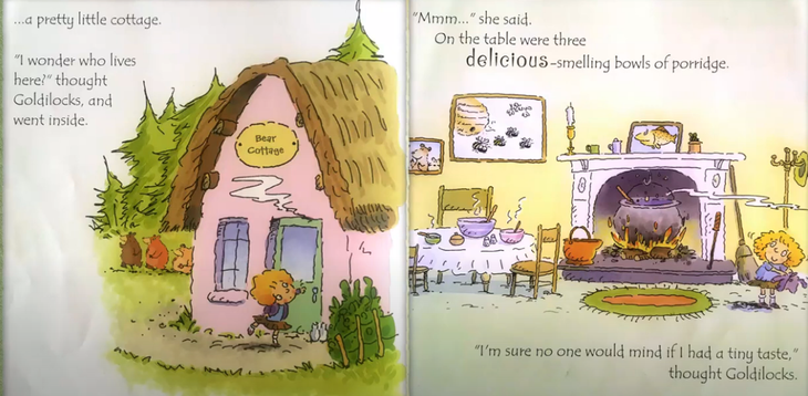 Goldilocks is at a cottage... what is a cottage?