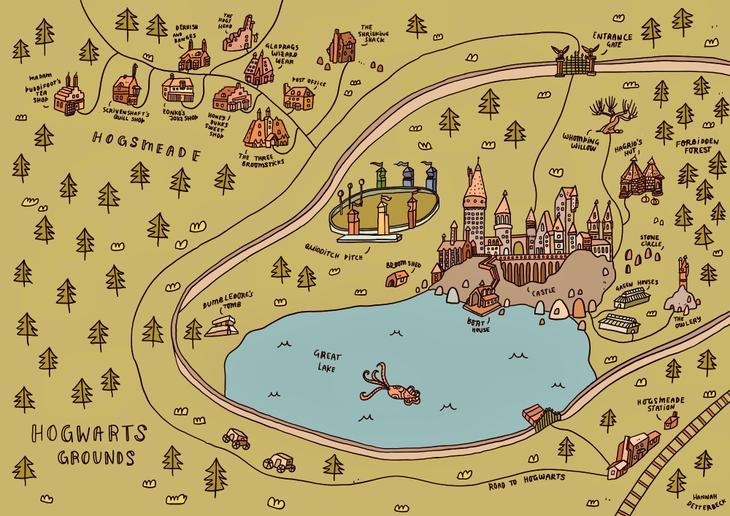 Hogwarts Visual Map